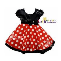 Vestido Infantil Festa Minnie Novo Com Defeito De Fábrica