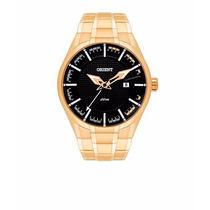Relógio Orient Dourado Grande Masculino Mgss1101 - Promocão!