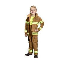 Disfraz Para Niños Aeromax Jr. Bombero Traje - Tan