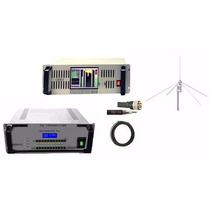 Kit Rádio Comunitária Processador Áudio Multibanda 25 W Fm