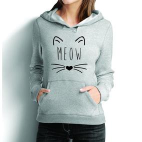 Moletom Casaco Estampado Gatinho Meow Blusa De Frio