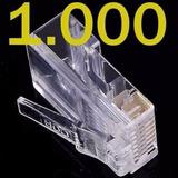 Conector Rj45 Cat5e Pct 1000pçs Cabo Rede Lan Plug Ethernet