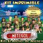 Kit Imprimible Metegol - Invitacion Y Mas Incluye Candy Bar