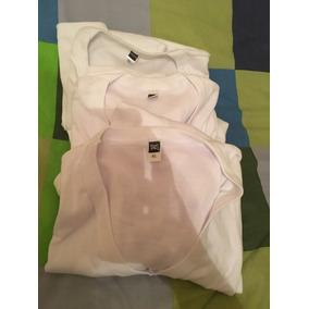 Camiseta Manga Corta Blanca Hombre Xl