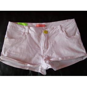 Short Vestir Jean Blanco Elastizado Solo Una Postura Talle S