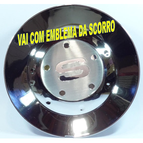 Calota Miolo Centro De Roda Scorro Modelo S-182 Cromada