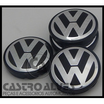 Kit 4pçs Calota Centro P/ Roda Original Vw Gol G5| Fox| Polo