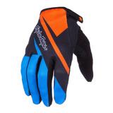 Luva Bike Bicicleta Troy Lee Ace Glove Azul/laranja