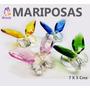 Bellas Mariposa Cristal Tallado En Colores