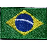 Patch Bordado Bandeira Brasil - Airsoft - Fardamento