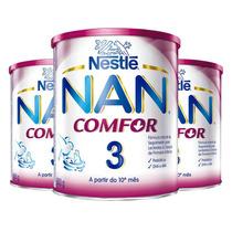 Kit: 3 Leite Em Po Nan Comfort 3 Formula Infantil 800g