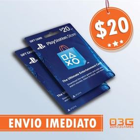 Cartão Psn $20 Dólares Playstation Network Card Usa Imediato