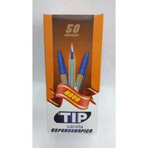 Caneta Esferográfica Tip 1.0 Azul Injex Pen Caixa C/50 Unid.