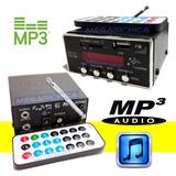 Modulo Reproductor Usb Mp3 C/display Radio Remoto 3.5mm Jdm2