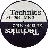 Feltro Technics Sl1200 Mk2 Prata C Preto Mod Grosso Slipmats