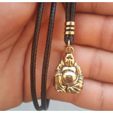 Amuleto Da Sorte Buda Buddha Budh Espiritual Colar Unissex