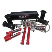 Kit Suspensão A Ar 06 Válvulas+compressor 444c Chevette