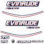 Adesivo Motor De Popa Evinrude 75 Hp E-tec