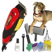 Maquina Tosa Profissional Cães Gatos Kit Completo 10 Itens