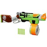 Nerf Zombie Huelga Slingfire Blaster Rifle Pistola Con Tamb