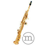 Saxofone Milano Soprano Reto Bb Sib Custom Laqueado . Loja !
