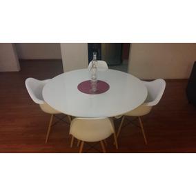 Comedor Con Mesa Redonda Para 4 Replica Eames - Remato -