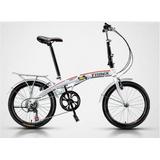 Bicicleta Dobrável Aro 20 Trinx Shimano 7 Velocidades
