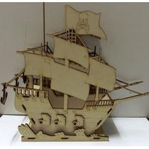 Porta Cupcakes O Caramelera Barco Pirata Mdf Laser