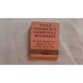 Caixa De Fosforo Americana Antiga Title Insurance Company