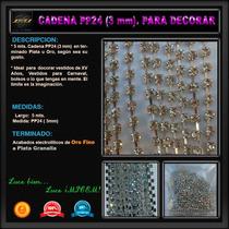 5 Mts Cadena Pp24 - 3 Mm Decorar Vestidos Bolsos Zapatillas