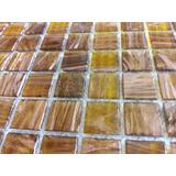 Mosaico Malla Decorativa De Vidrio Ambar