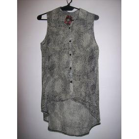 Blusa Camisa De Gasa Animal Print Talle S