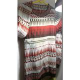 Sweater Mujer Largo/ Guardas Dibujos Geométricos