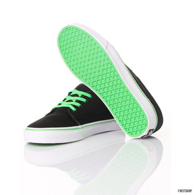 Zapatillas Vans 106 Vulcanized Blackgreen Flash Talla Us 10
