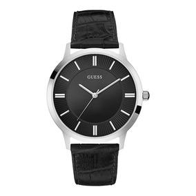 Reloj Guess W0664g1 Negro Plata Para Caballero 100% Original