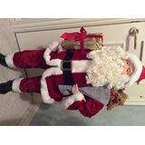 Decoración Papá Noel Con El Saco De La Figura