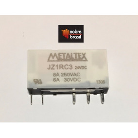 Rele Miniatura 5 Pinos 6a 250vac/6a 30vdc Jz1rc3 Metaltex 24