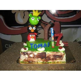 Adorno De Torta Angry Birds Porcelana Frìa!!!