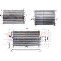Condensador Ar Condicionado Gm Omega 95/96/97/98 - R134a