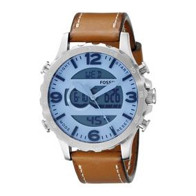Reloj Fossil Nate Jr1492 Cuero Envio Gratis