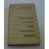 Introducción A Poesía Y Prosa Castellanas Modernas Zambrano