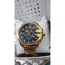 Relógio Diesel Masculino10 Bar Dourado Preto Promocional
