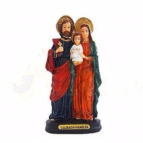 Imagem Sagrada Família 20 Cm Em Resina Melhor Preço