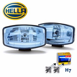 Combo Faros Hella Jumbo 320 Blue Con Bombillos Hella H7 +50%