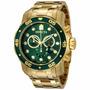 Relogio Invicta Masculino Pro Diver 0075 / 21925 B.ouro 18k