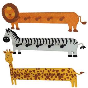 Perchero De Mdf Personalizado Con Figura De Animales