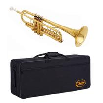 Trompete Shelter Sft6418l Si Bemol Laqueado Dourado Estojo