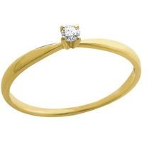Anel Em Ouro 18k Solitário Diamante 5 Pontos - Sol5esp