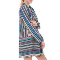 Mini Vestido Bluson Camison Sexy Ts Multicolor Tunica
