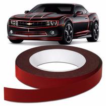 Faixa Refletiva Moto Carro Vermelha Adesiva Decorativa